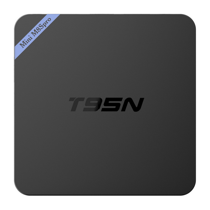 T95N-Mini M8Spro 4K S905X Android 6.0 Smart TV Player -Black (EU Plug)