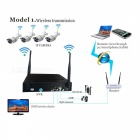 4CH Wireless NVR w/ 7Inch LCD Display a Combo Kits (EU Plug)