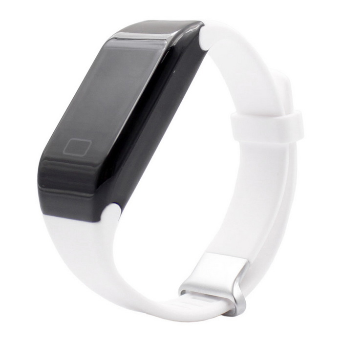 H3 Waterproof 3ATM Bluetooth Smart Watch Heart Rate Monitor - White