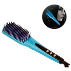 SC-812 LCD Anion Electric Hair Straightener Brush - Blue
