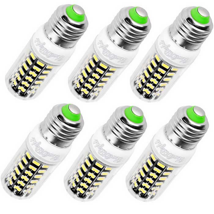 YouOKLight E27 7W LED Corn Bulb Cool White 64 SMD-5733 (6PCS/110V)