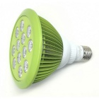 YouOKLight E27 24W 12-LED Plant Grow Light - Mint Green (AC 85~265V)