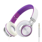 MS200 Universal Subwoofer Folding Headphone - branco + roxo