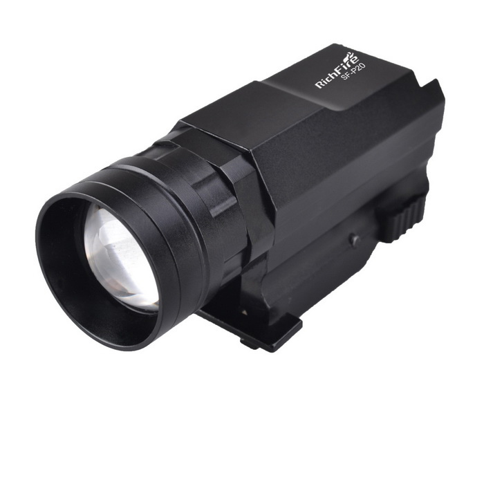 RichFire SF-P20 20mm Gun rail LED Zoom Tactical Pistal lampe de poche