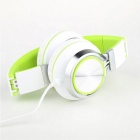MS200 Universal Subwoofer Folding Headphone - White + Green