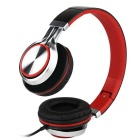 MS200 Universal Subwoofer Folding Headphone - Black + Red