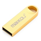 Maikou MK-202 16GB Metal USB 2.0 Flash Drive U Stick - gylne