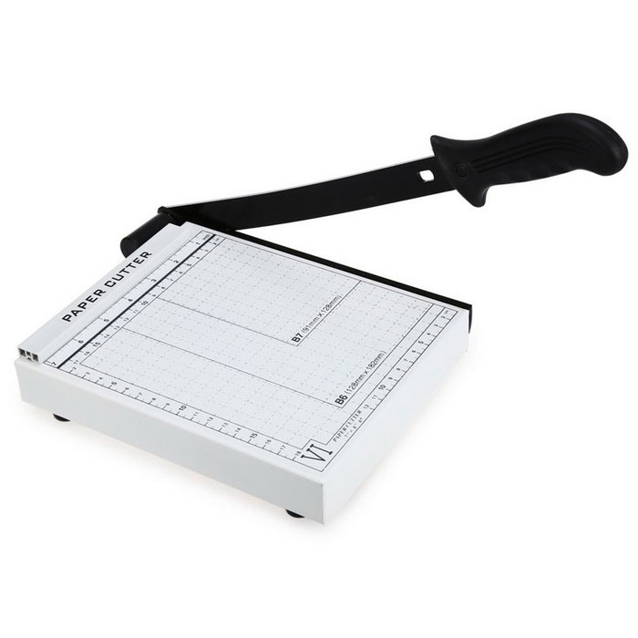 Steel Paper Cutter Cutting Tool for Home / Office - White