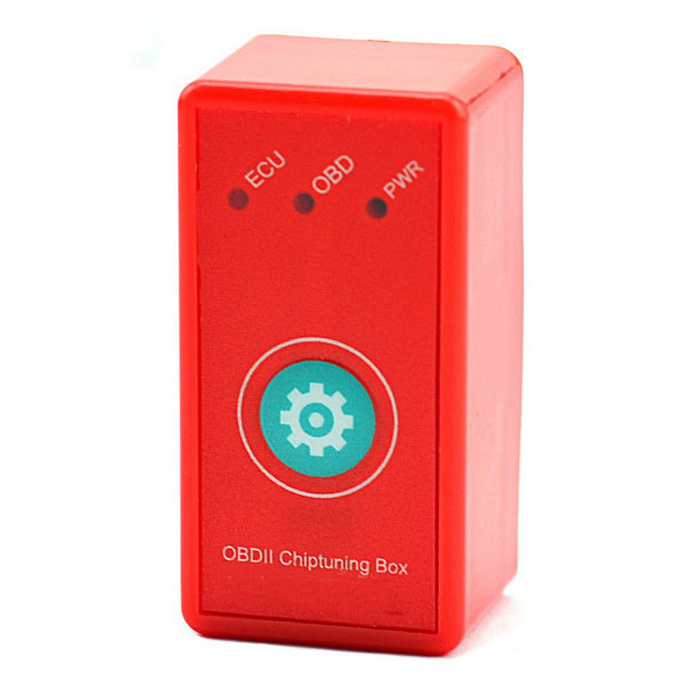 2-em-1 Super OBD2 Chiptuning Box w / Reset Button - Red