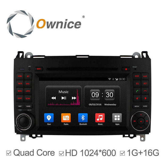 "Ownice C300 7 ""Android 4.4 Quad-Core HD 1024 * 600 DVD para carro Benz W169"