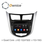 16GB ROM HD Quad-Core Android 4.4 Car DVD Player GPS Navi para a Rádio Hyundai Verna Accent - Preto