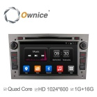HD 16GB ROM Android 4.4 rádio Car DVD Player GPS para Opel Astra Vectra Zafira - Cinza prateado