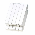 30*5*5mm Rectangle Neodymium NdFeB Magnets - Silver (10PCS)