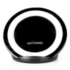 Qi Standard Charger Support Fast Charge - Black + White