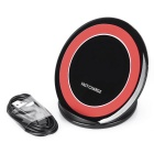 Qi Standard Charger Support Fast Charge - Black + Red
