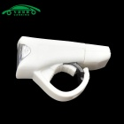 USB Charging Flashlight Bicycle Front Head Light Neutral White - White