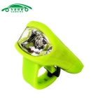 USB Charging Flashlight Bicycle Front Head Light Neutral White - Green