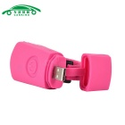 USB Charging Flashlight Bicycle Headlamp Neutral White - Dark Pink