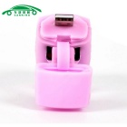 USB Charging Flashlight Bicycle Front Head Light Neutral White - Pink