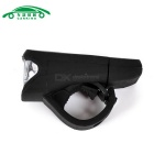 USB Charging Flashlight Bicycle Front Head Light Neutral White - Black
