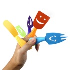 Stainless Steel Mini Cheese Knife Colorful Porslin Set (5PCS)