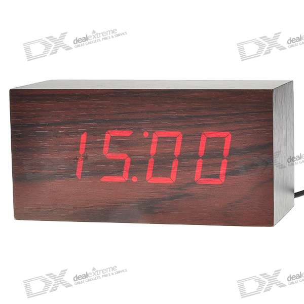 Cherry Wood Decorative Desktop Clock (4*AA)
