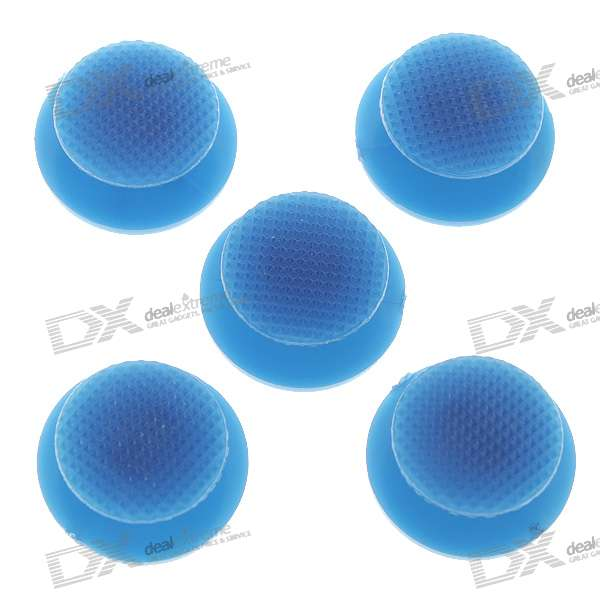 Repair Parts Replacement 3D Analog Joystick Cap for PSP 2000/3000 - Blue (5-Pack) repair parts replacement bus wires for psp 3000 3 piece set