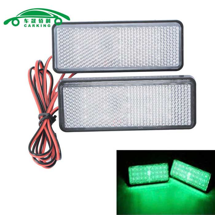 Motorcycle License Plate LED Flashing Light Green Light (2PCS)