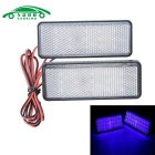 Placa de matrícula de la motocicleta LED luces intermitentes luz azul (2PCS)