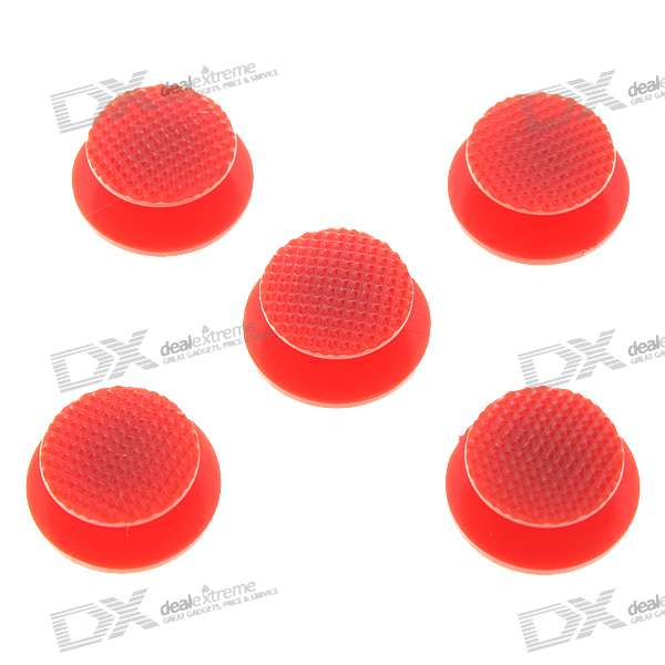 Repair Parts Replacement 3D Analog Joystick Cap for PSP 2000/3000 - Red (5-Pack) repair parts replacement bus wires for psp 3000 3 piece set