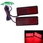 Universal 1W 25lm Motorcycle Electric Vehicle LED Lampes de freinage clignotant - Rouge translucide (DC 12V)
