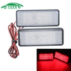 Motorcycle License Plate LED Flashing Brake Lights Red Light (2PCS)