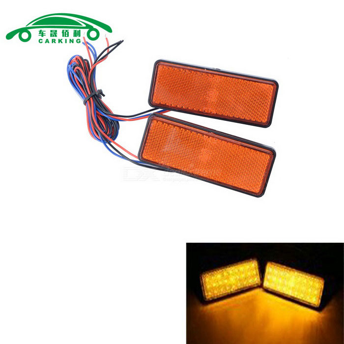 Motorcycle License Plate LED Flashing Lights Yellow Light (2PCS)