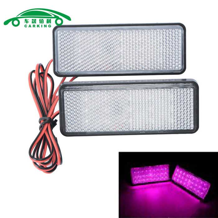 Motorcycle License Plate LED Flashing Lights Purple Light (2PCS)