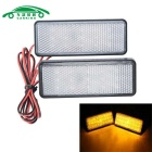 Motorcycle License Plate LED Flashing Light Yellow Light (2PCS)