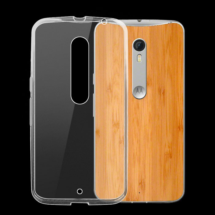 Ultra-Thin TPU Back Case for Motorola Moto X Style - Transparent