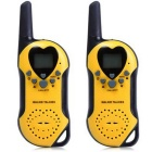 22-Channel UHF Walkie Talkies w/ LCD Screen - Yellow (2 PCS)