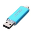 MaiKou 2-в-1 Micro USB OTG USB 2.0 Flash Drive - Light Blue (16GB)