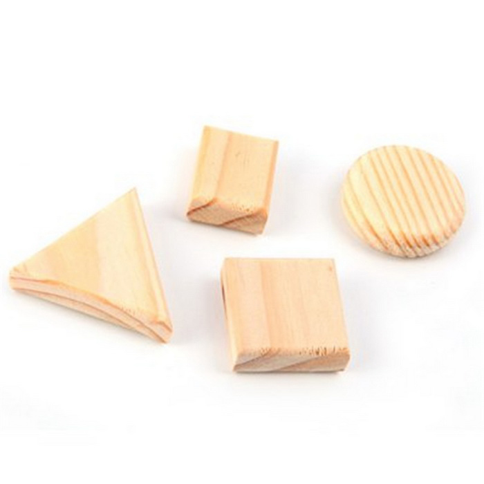 FUNI MC-8201 Wooden Magnets for Fridge / Office - Off-White (4PCS)