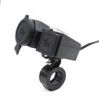 Motorcycle Waterproof Dual USB Mobile Phone Charger Cigarette Lighter