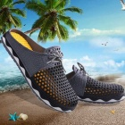 Summer Men Breathable Air-mesh Beach Leisure Sandals Shoes - Black
