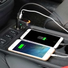 Double USB 2.1 A Car Charger w/ LED Display Bluetooth Hands-Free Calls
