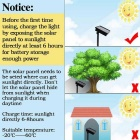 66ft 200-LED Solar Powered secuencia del LED LED centelleo decorativos