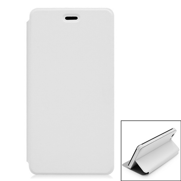 Flip Open Back Full Body Case w/ Stand for DOOGEE X5 / X5 Pro - White