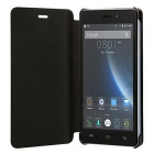 Flip Open Back Full Body Case w/ Stand for DOOGEE X5 / X5 Pro - Black