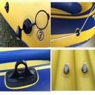 Inflatable Boat / Kayaking / Fishing Dinghy w/ Oars for 2 Persons