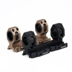 Tactical 25mm / 30mm dubbel ring Cantilever Heavy Duty Scope Mount - Svart