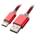 USB 2.0 to USB Type-C Data / Charging Sync Cable - Red (97cm)