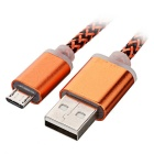 Thickened Twine Micro USB Data Cable - Orange (96cm)