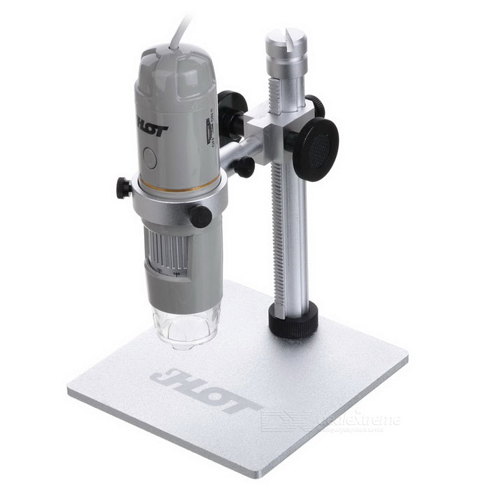 HOT HT-30L Telephoto Lens 2.0MP 1~500X HD Digital Microscope - GreyMicroscopes &amp; Endoscope<br>Snake Cable LengthN/AModelHT-30LQuantity1 DX.PCM.Model.AttributeModel.UnitForm  ColorGreyMaterialABSMagnification1-500XCamera Pixels2.0MPCompatible OSWin XP/Vista,Win7,Win8,Win10,Andriod(Android phone with OTG functionCamera head outer diameter37mmLED Bulb Qty8InterfaceUSB / OTGCertificationCE/FCC/RoHSPacking List1 *  Microscope (139+/-2cm cable)        1 *  CD                      1 *  Aluminum Lift Stand     1 *  Correction ruler        1 * Chinese / English user manual<br>